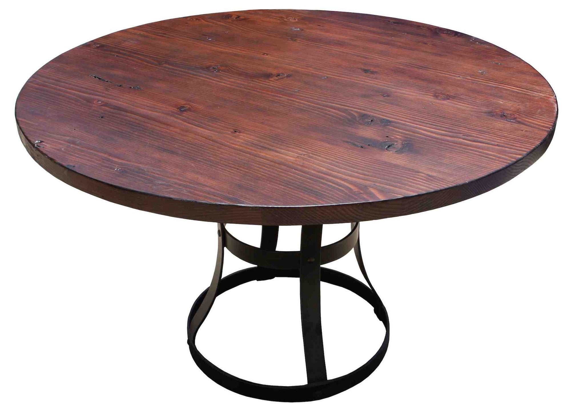 Detroit Dining Table In Reclaimed Wood And Metal Mortise Tenon