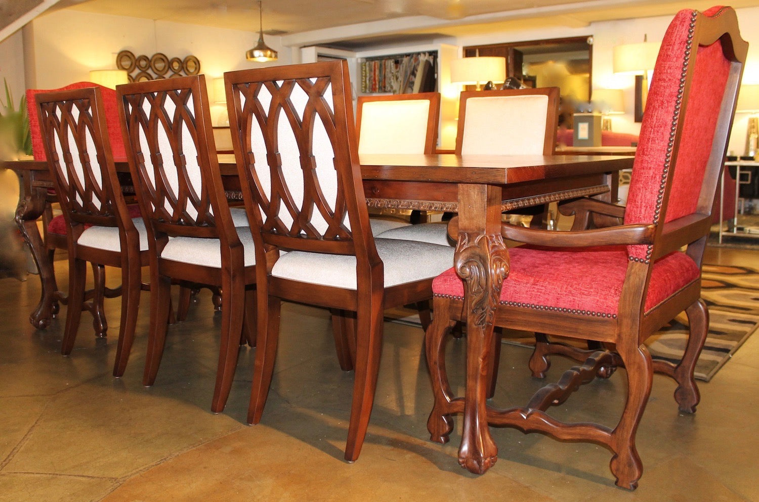 Hearst Reclaimed Wood Dining Table and Rosalind Chair