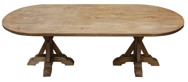 Reclaimed Wood Double Pedestal Dining Table Mortise Amp Tenon