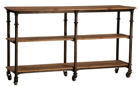 Boston Industrial Metal and Wood Console