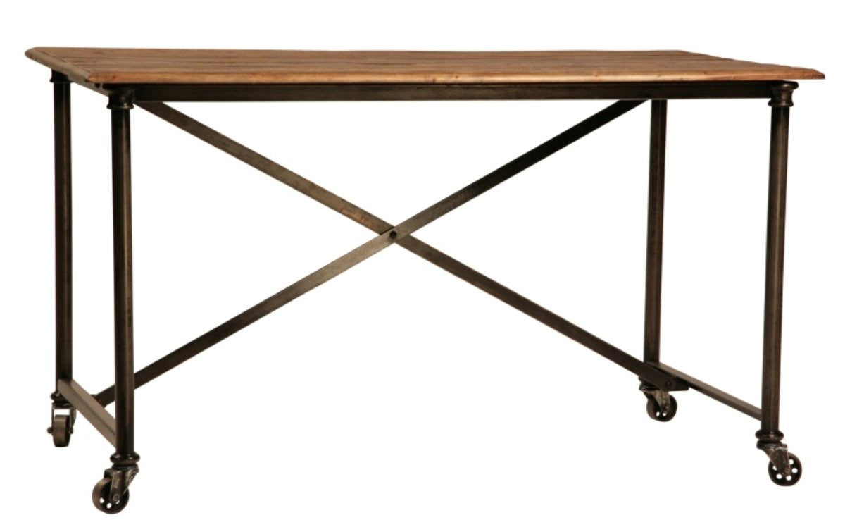 Los Feliz metal and reclaimed wood Desk