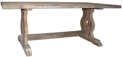 Rustic Trestle Dining Table Featured in Reclaimed Douglas Fir