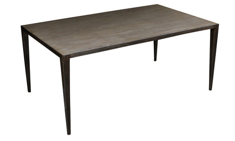 Modern Edison Dining Table with White Oak Top