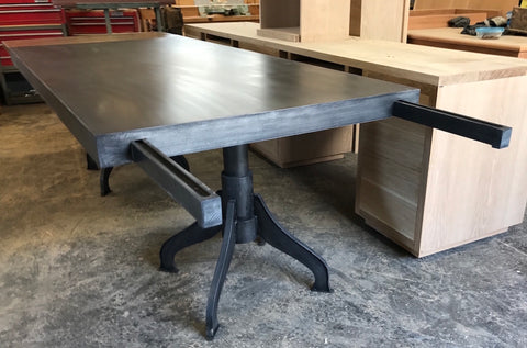 Industrial Metal Extension Dining Table