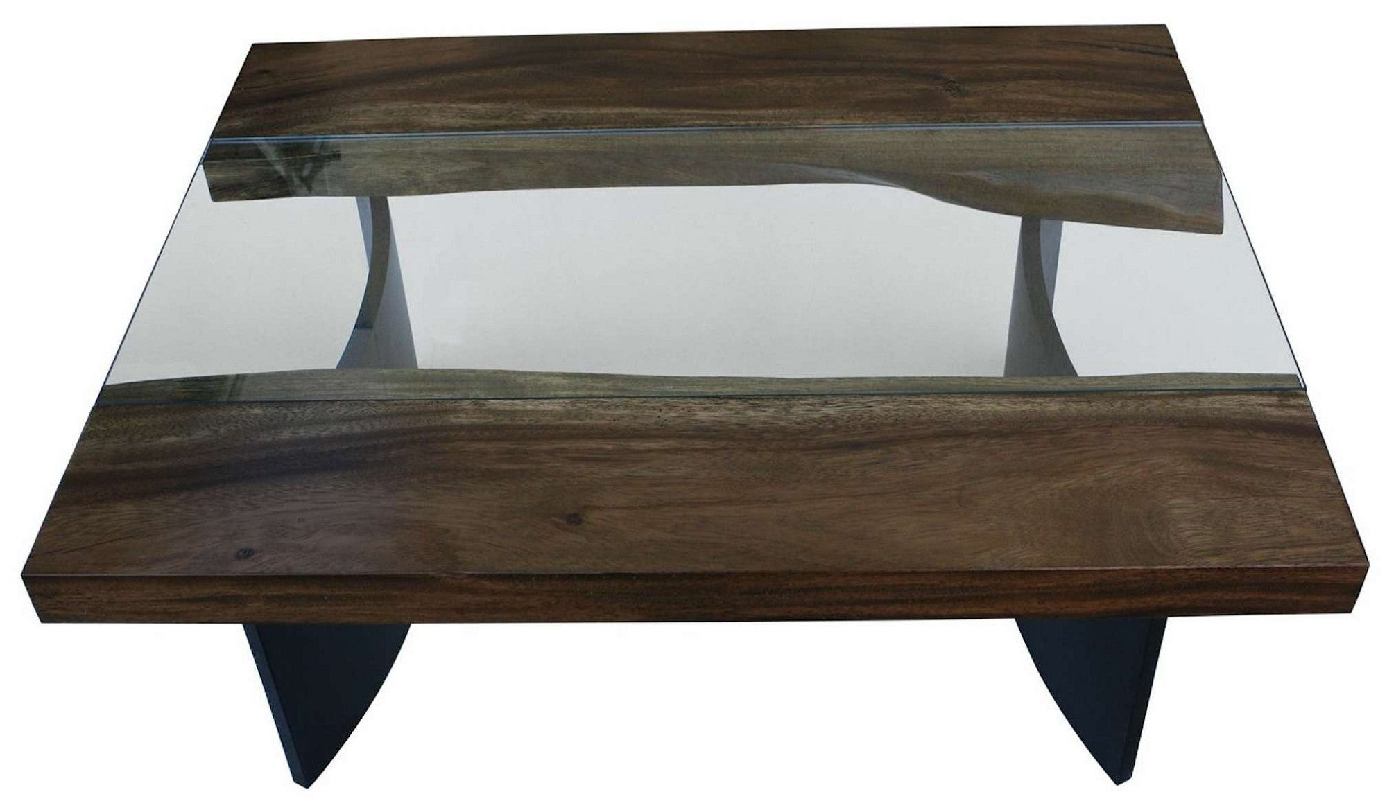 Live Edge Modern Industrial Coffee Table Mortise Tenon