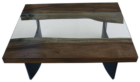 Free Edge Modern Industrial Coffee Table