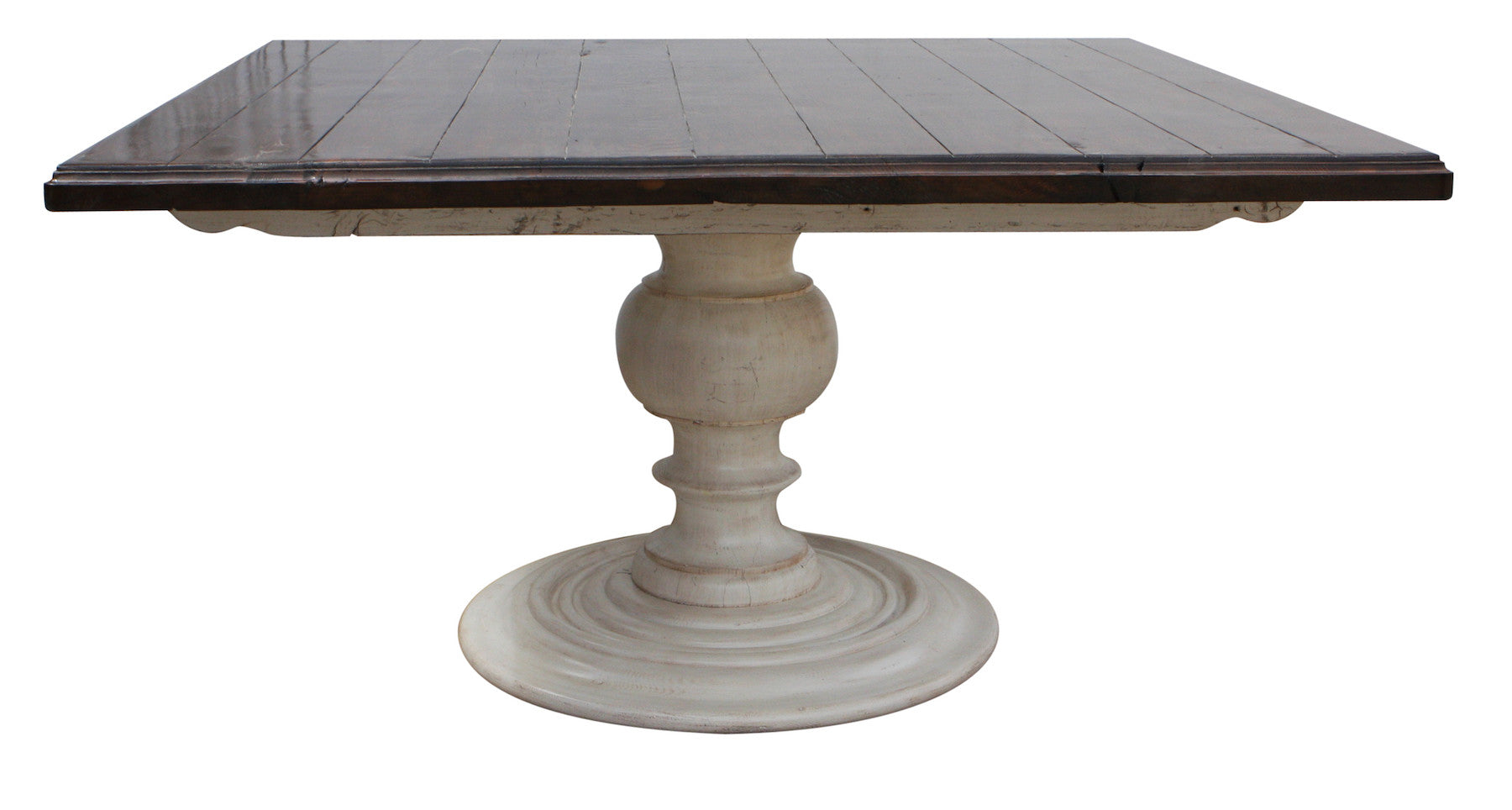 Reclaimed Wood Pedestal Dining Room Table