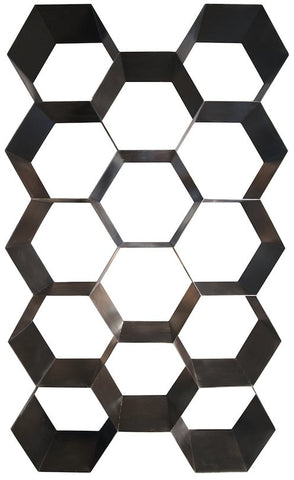 Honeycomb Large Metal Bookcase