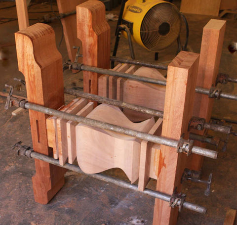 Glueing Up Solid Wood Trestle Legs