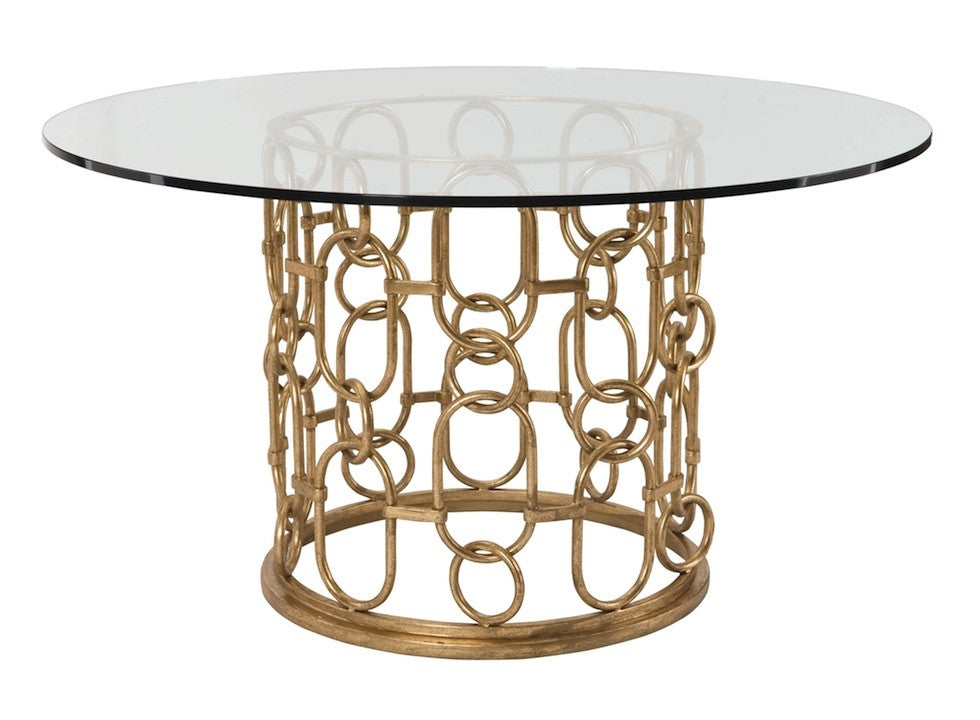 Frederica, Gold Chain Round Dining Table