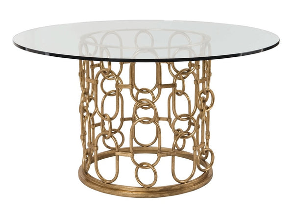 Frederica Gold Chain Round Dining Table Mortise Amp Tenon