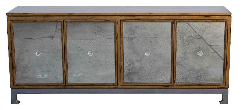 Grant Console Distressed Vintage Gold Mortise Amp Tenon