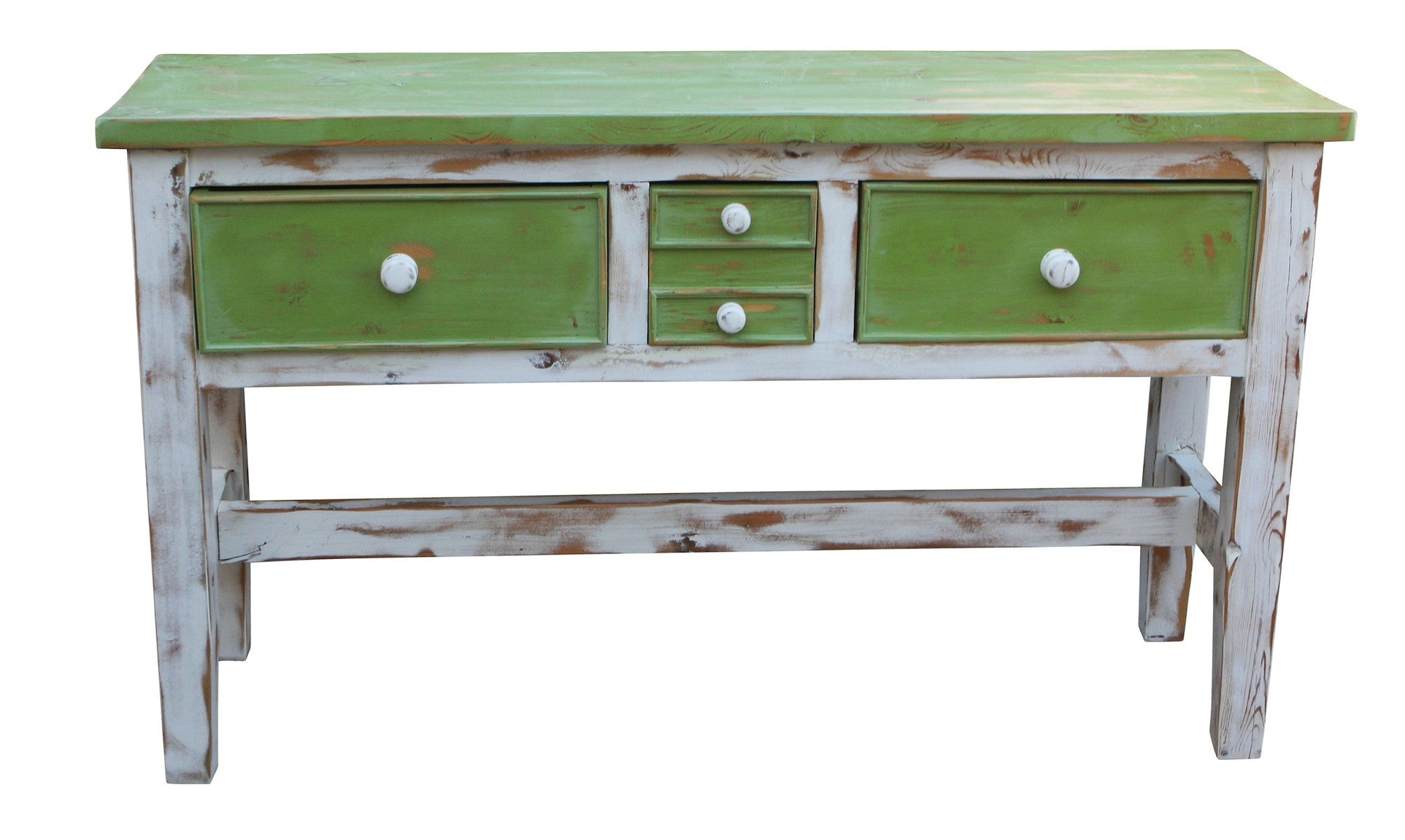 Green And White Sofa Table