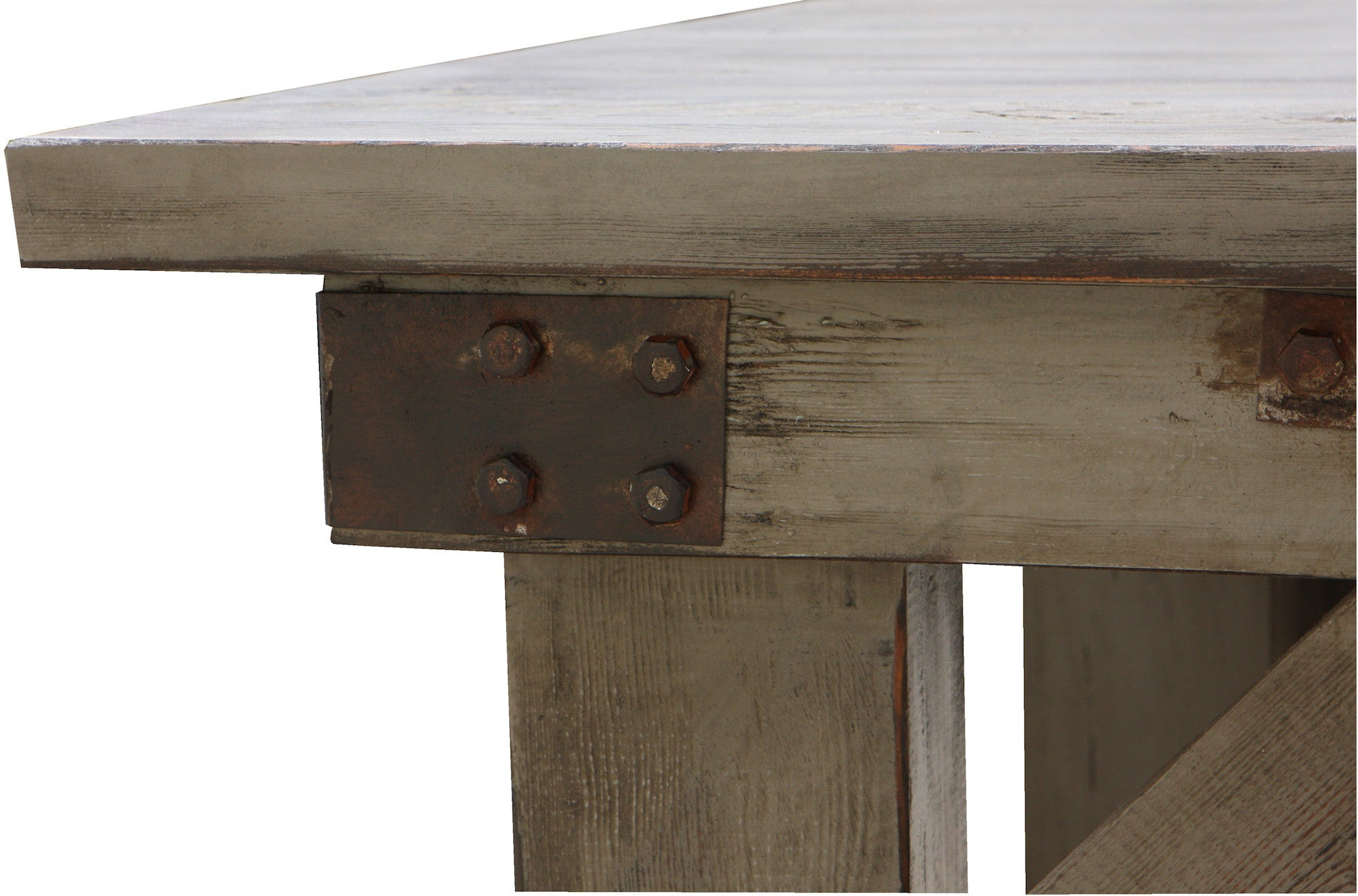 ... Industrial Work Bench Dining Table In Reclaimed Wood ...