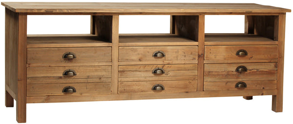 kitchen cabinets with drawers gustave media credenza vod1041 mortise amp tenon 6468