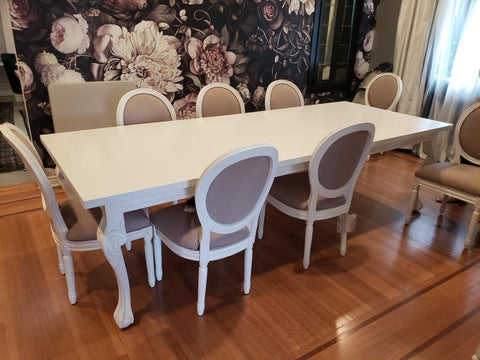 Hearst Dining Table in Gloss White