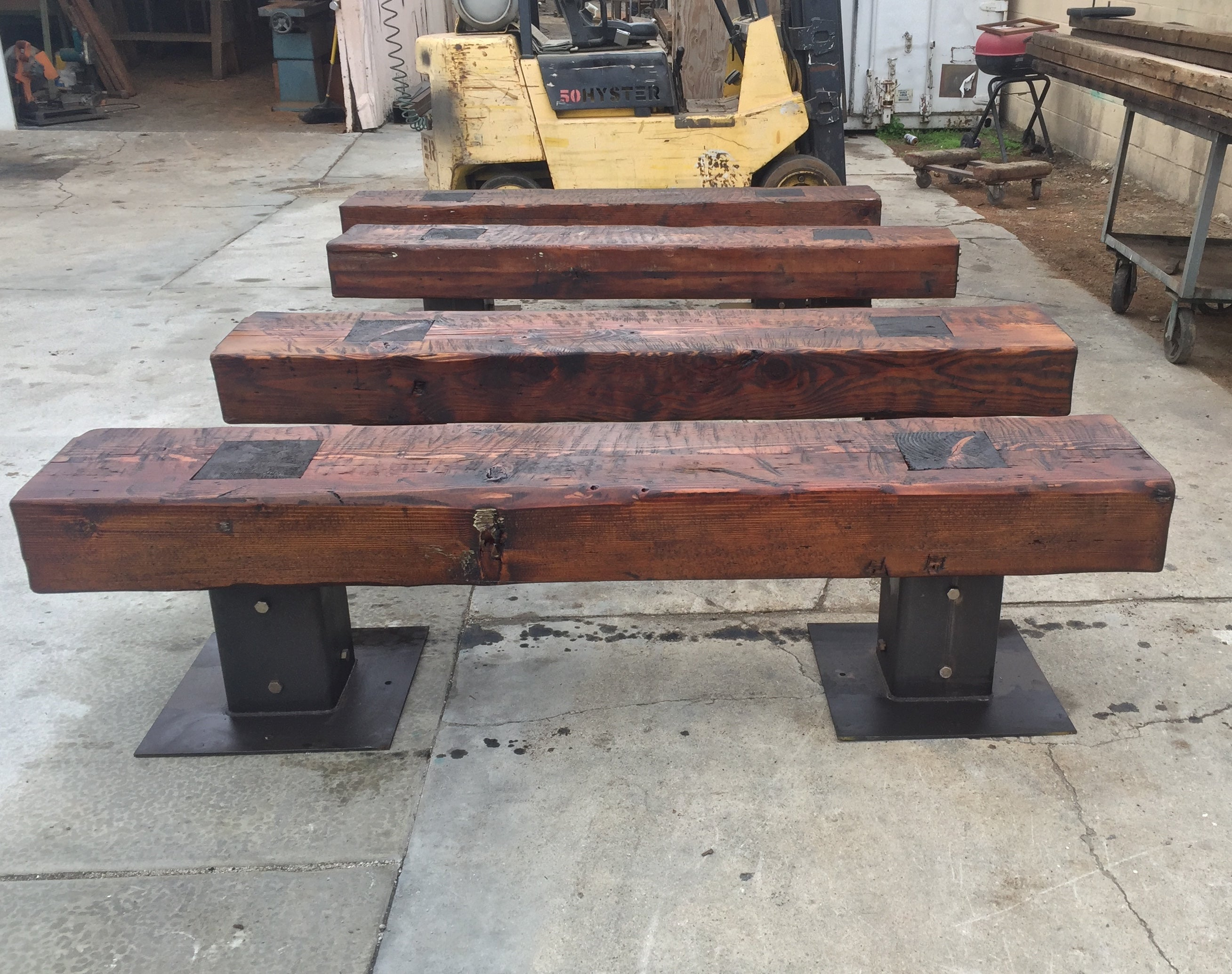 Rustic Reclaimed Wood Outdoor Bench Mortise Amp Tenon