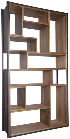 Herman Geometric Metal and Wood Bookcase