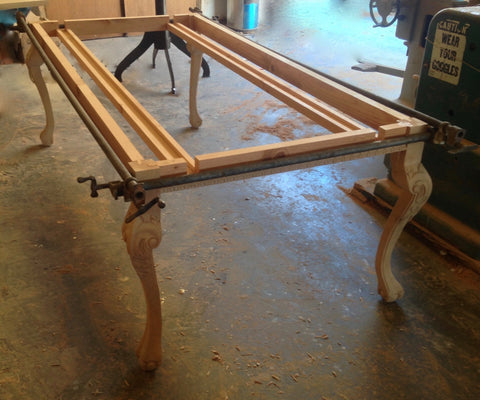 Building The Frame For a Extension Dining Table