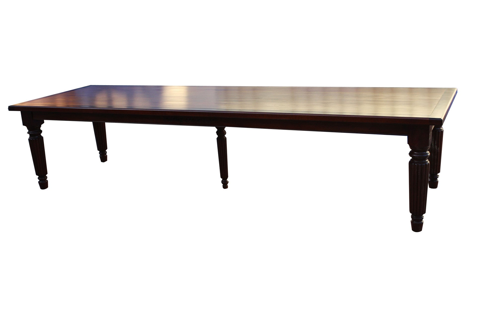 Custom  11 feet long Fluted Leg Dining table