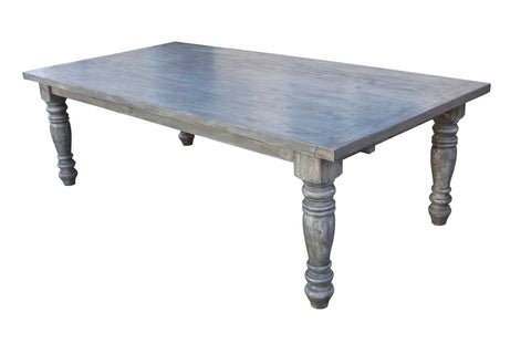 Sienna Reclaimed Wood Turned Leg Dining Table with Extension