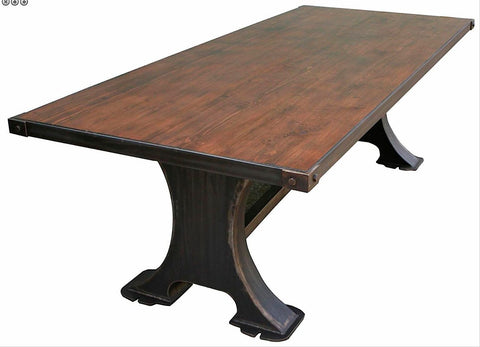 shown with reclaimed wood top