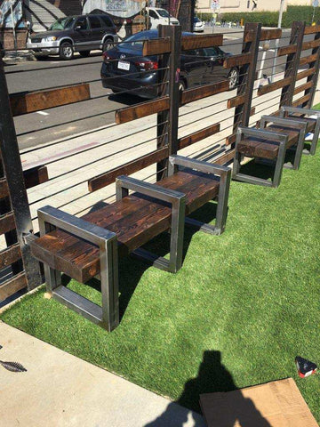 Modern Industrial Gates and Outdoor Benches