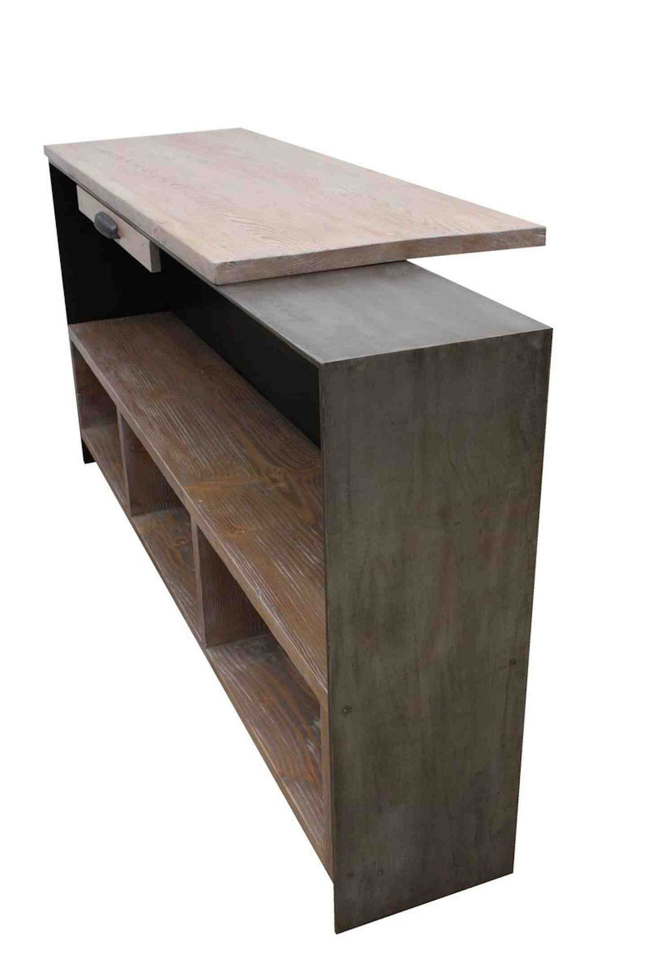 Custom Metal Reception Desk For A Yoga Studio Mortise