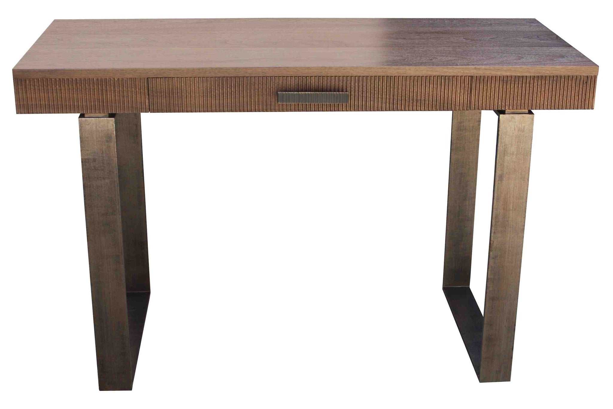 small modern desks with drawers - industrial modern desk mortise tenon