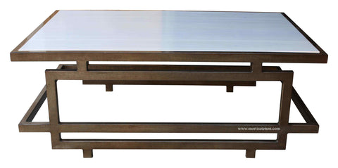 Tribecca Coffee Table with White Lacquer Top