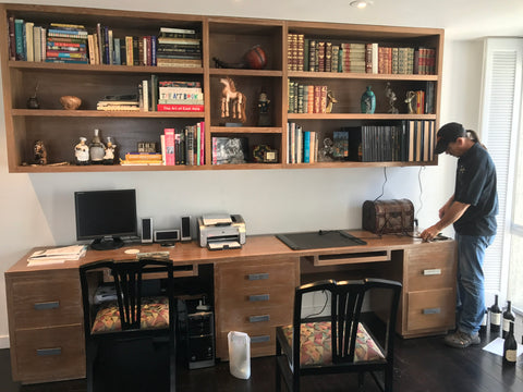 Modern Home Office Desk and Bookcase