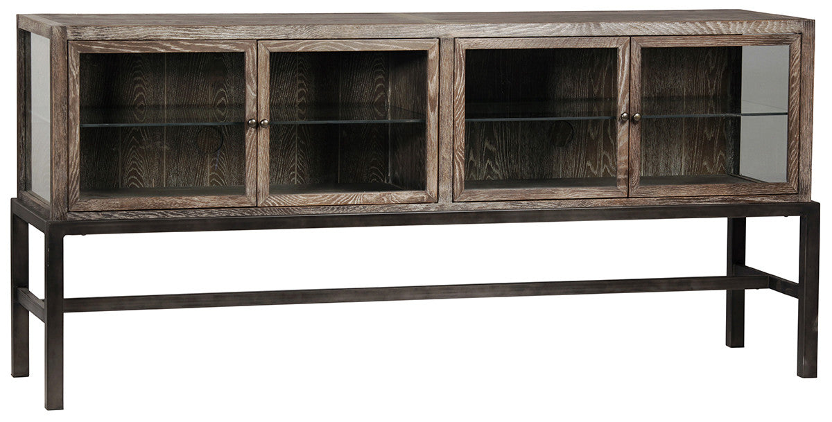 Garrison, Glass Low Bookcase Console
