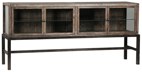 Garrison Glass Low Bookcase Console Mortise Amp Tenon