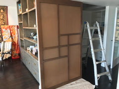 Custom Sliding Shoji Doors For Walk-in Closet