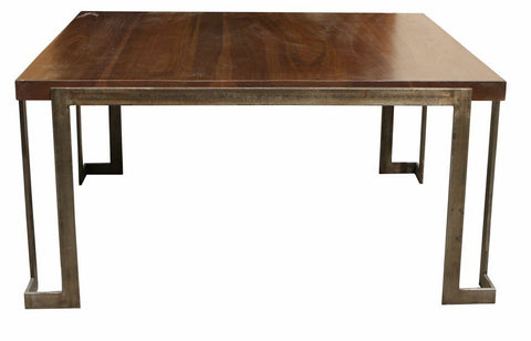 Modern Metal and Wood Coffee Table