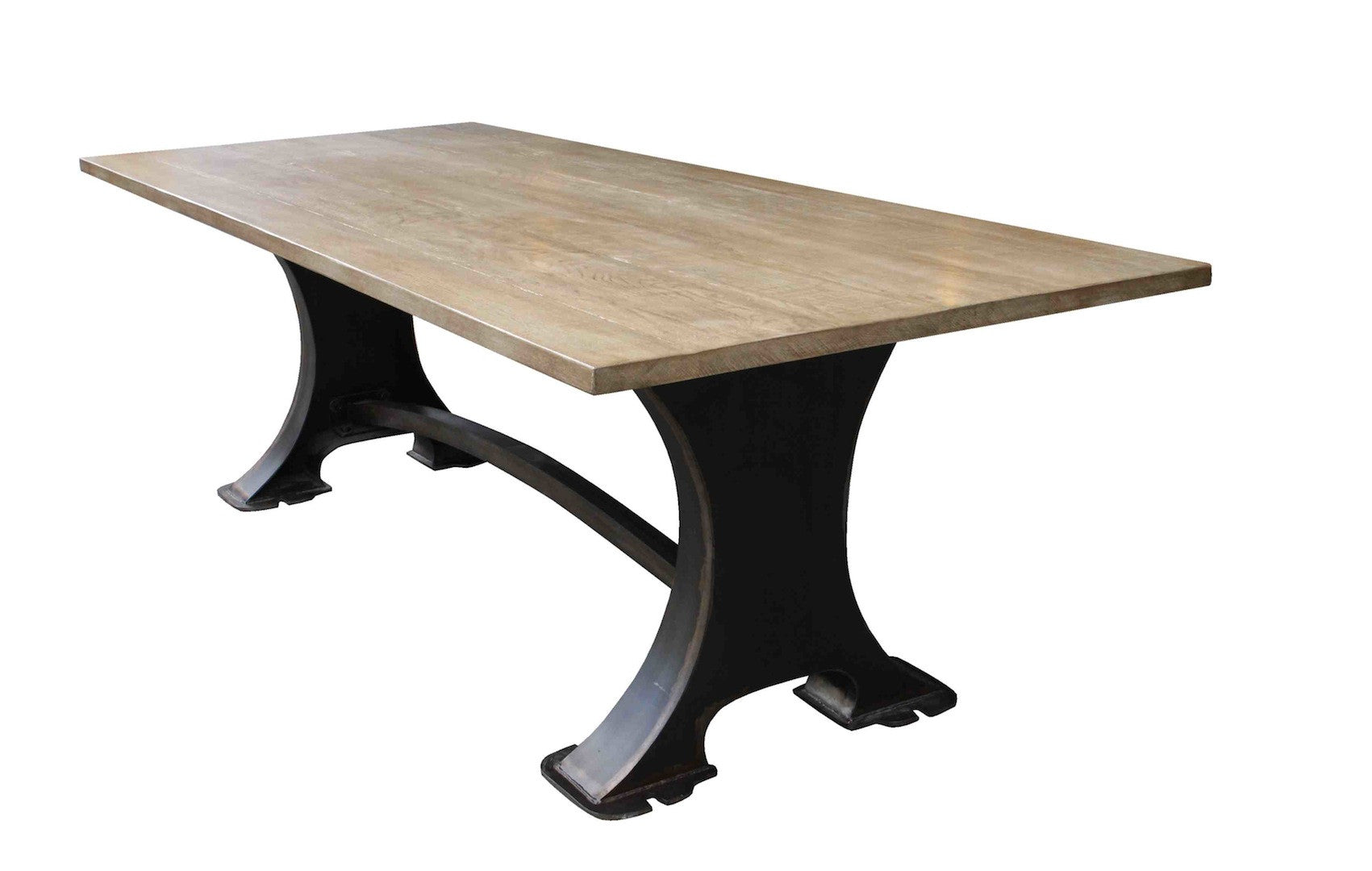 Picture of: Roberto Dining Table Industrial Design Home Furnishings Handmade In Los Angeles From Reclaimed Wood And Solid Metal Mortise Tenon