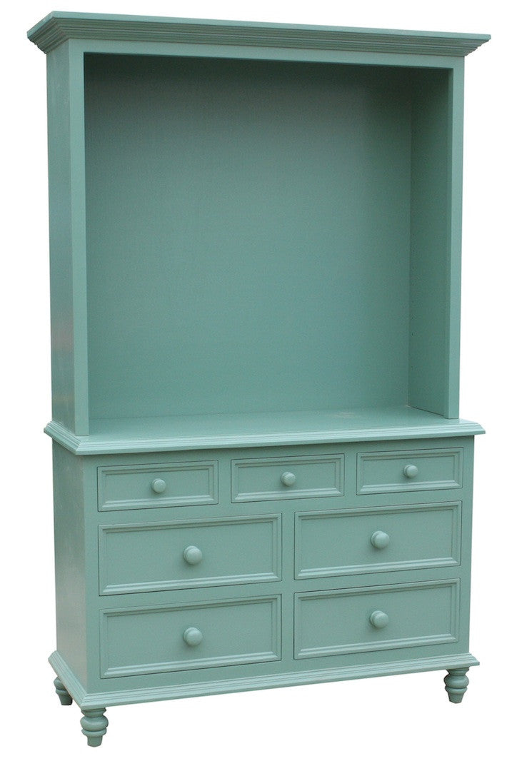 Bedroom Dresser with a Hutch Top