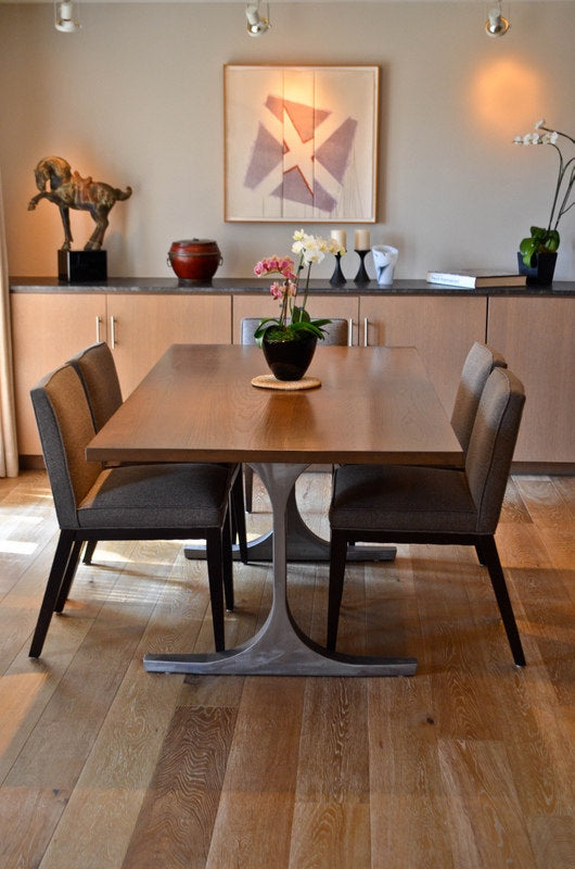 Bergen Dining Table and Custom Dining Chairs