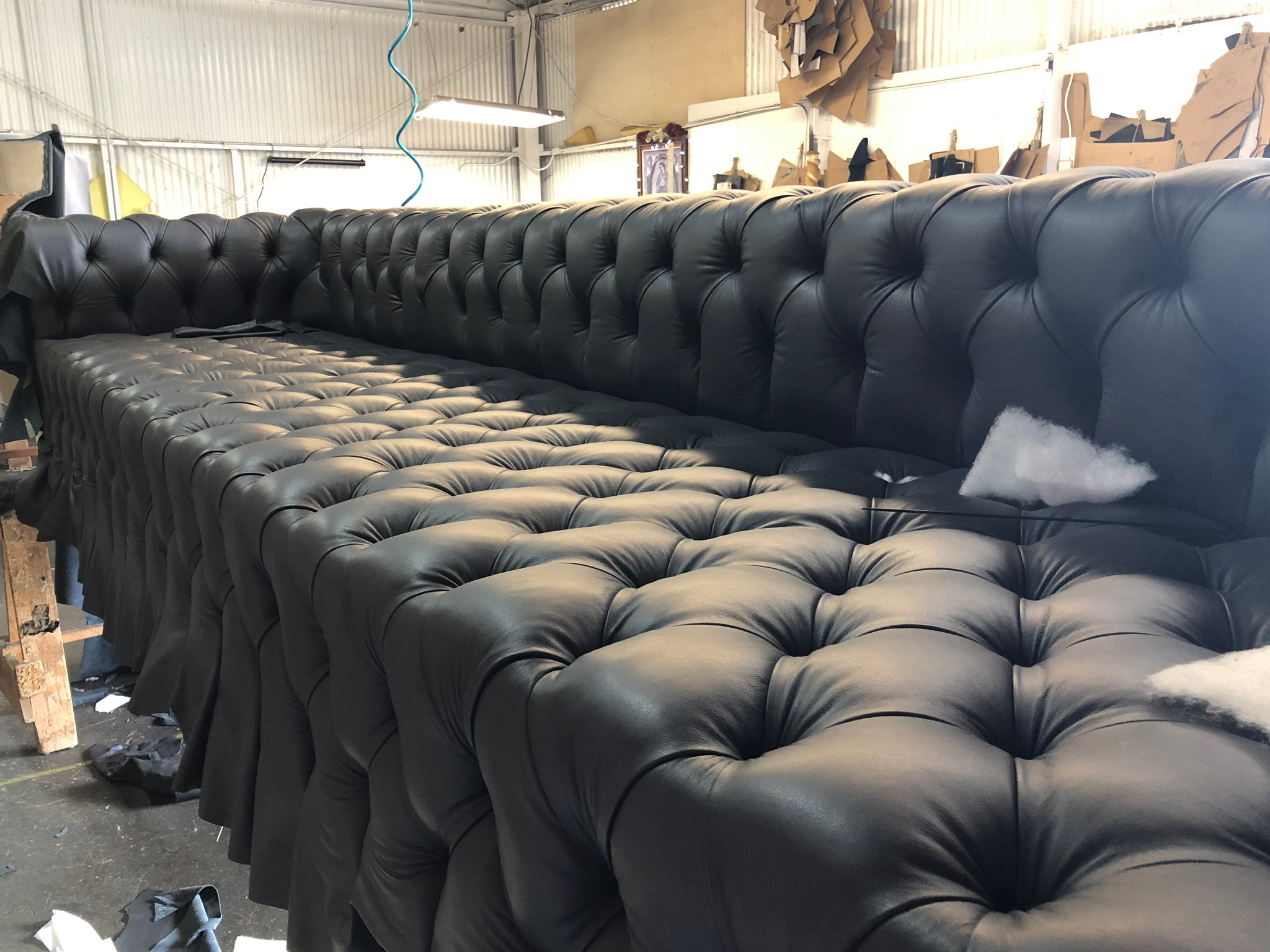 Custom Sofa Production Moments