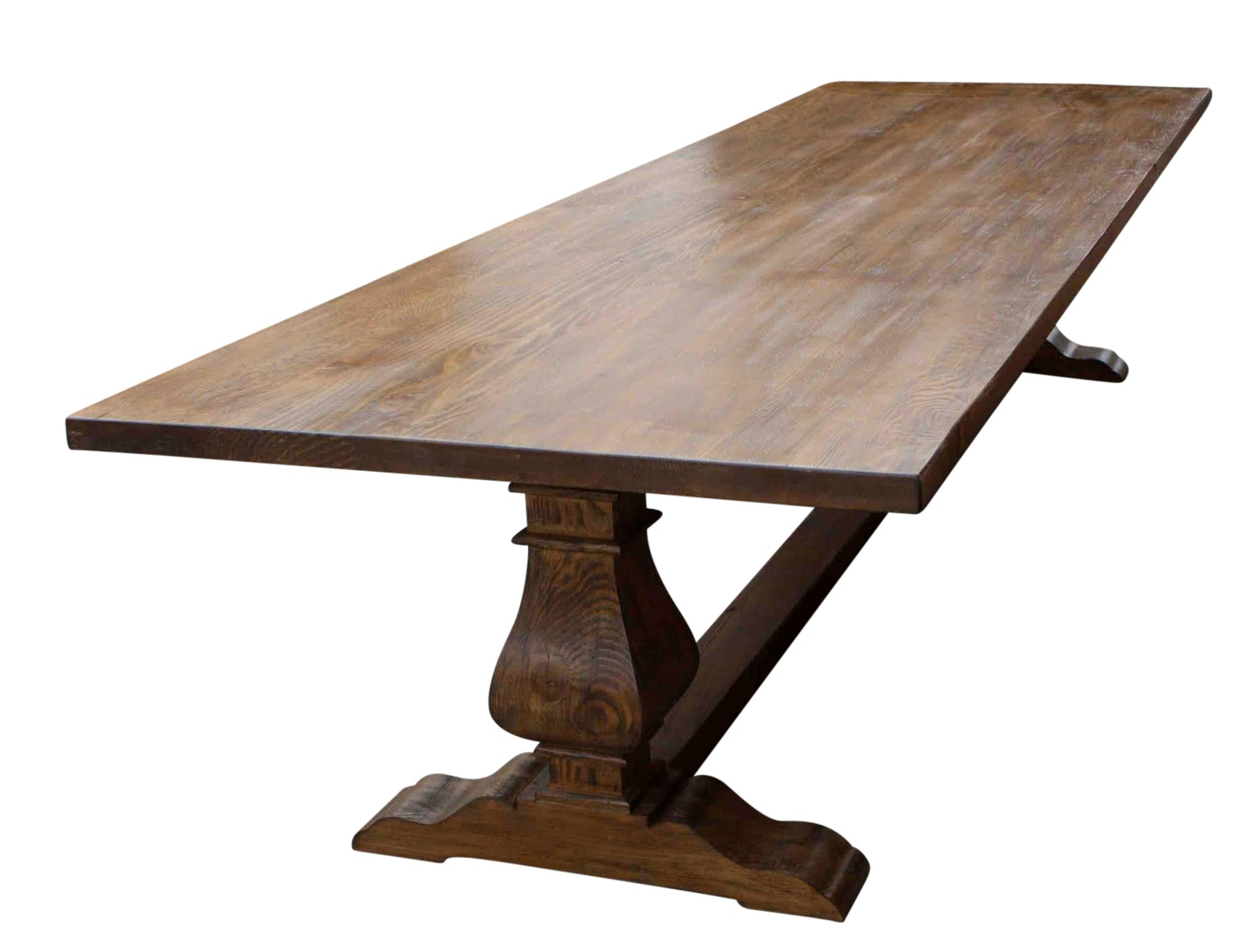 Custom Dining Tables Handmade From Traditional Trestle Tables Leaf - Cheap reclaimed wood dining table