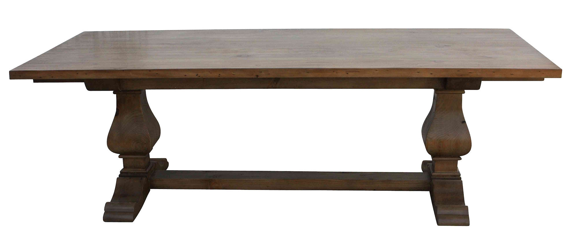 Custom dining tables handmade from traditional trestle for Non wood dining table