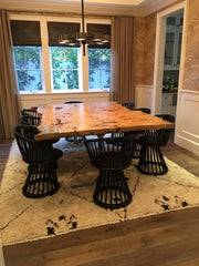 Unique Burled Maple Live Edge Dining Table