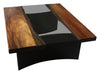 Live Edge Modern Industrial Coffee Table