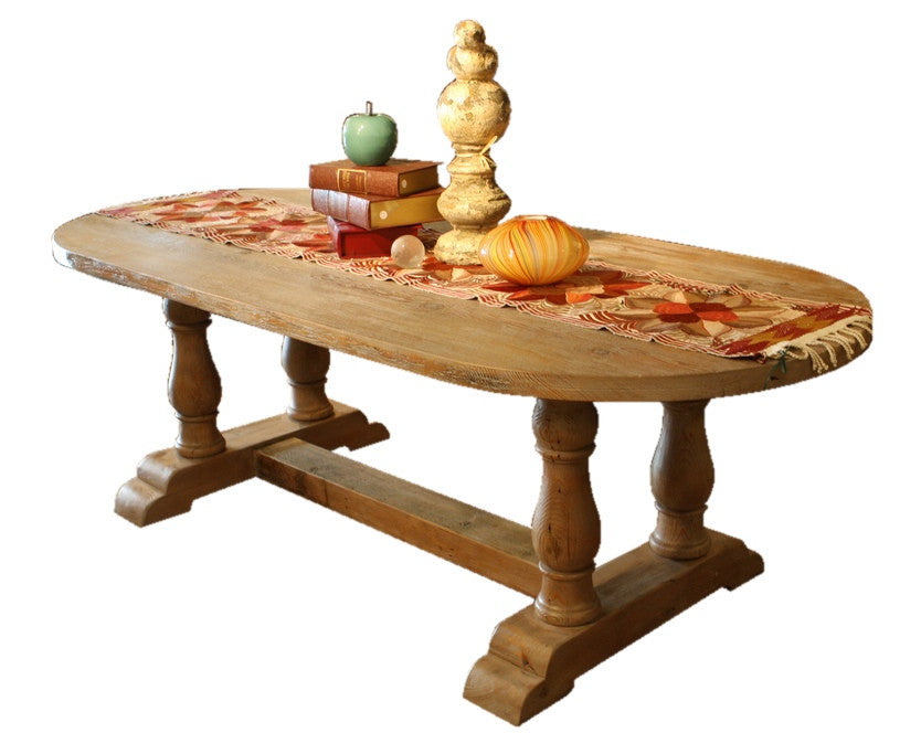 Londonberry Trestle Dining Table in Reclaimed Wood ... - Reclaimed Wood Trestle Dining Table Made Locally In Los Angeles