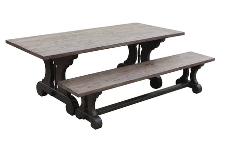 Lourdes Reclaimed Wood Dining Table