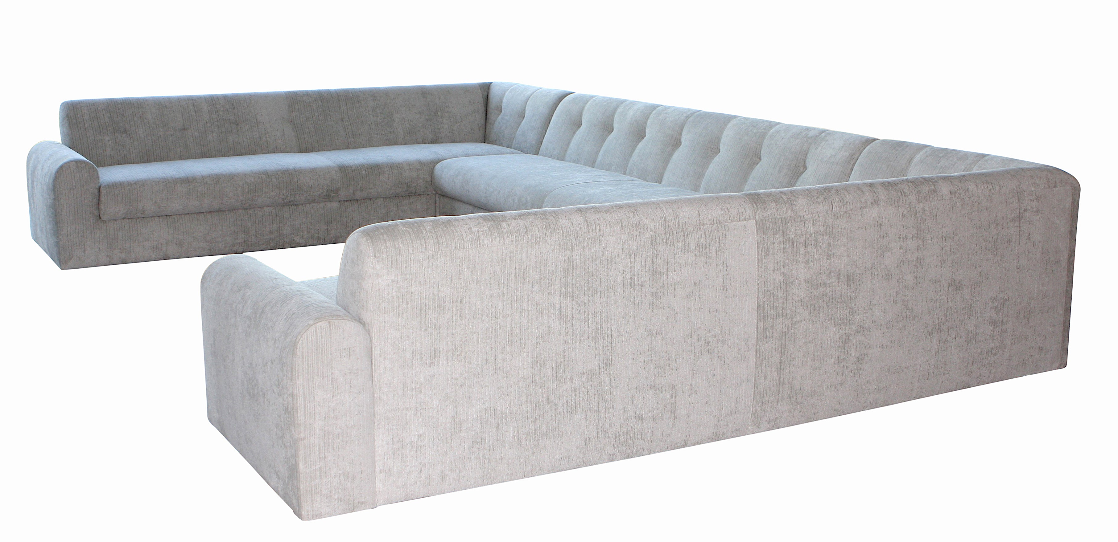 Outdoor Large U Shaped Sectional with Lucite Legs – Mortise ...
