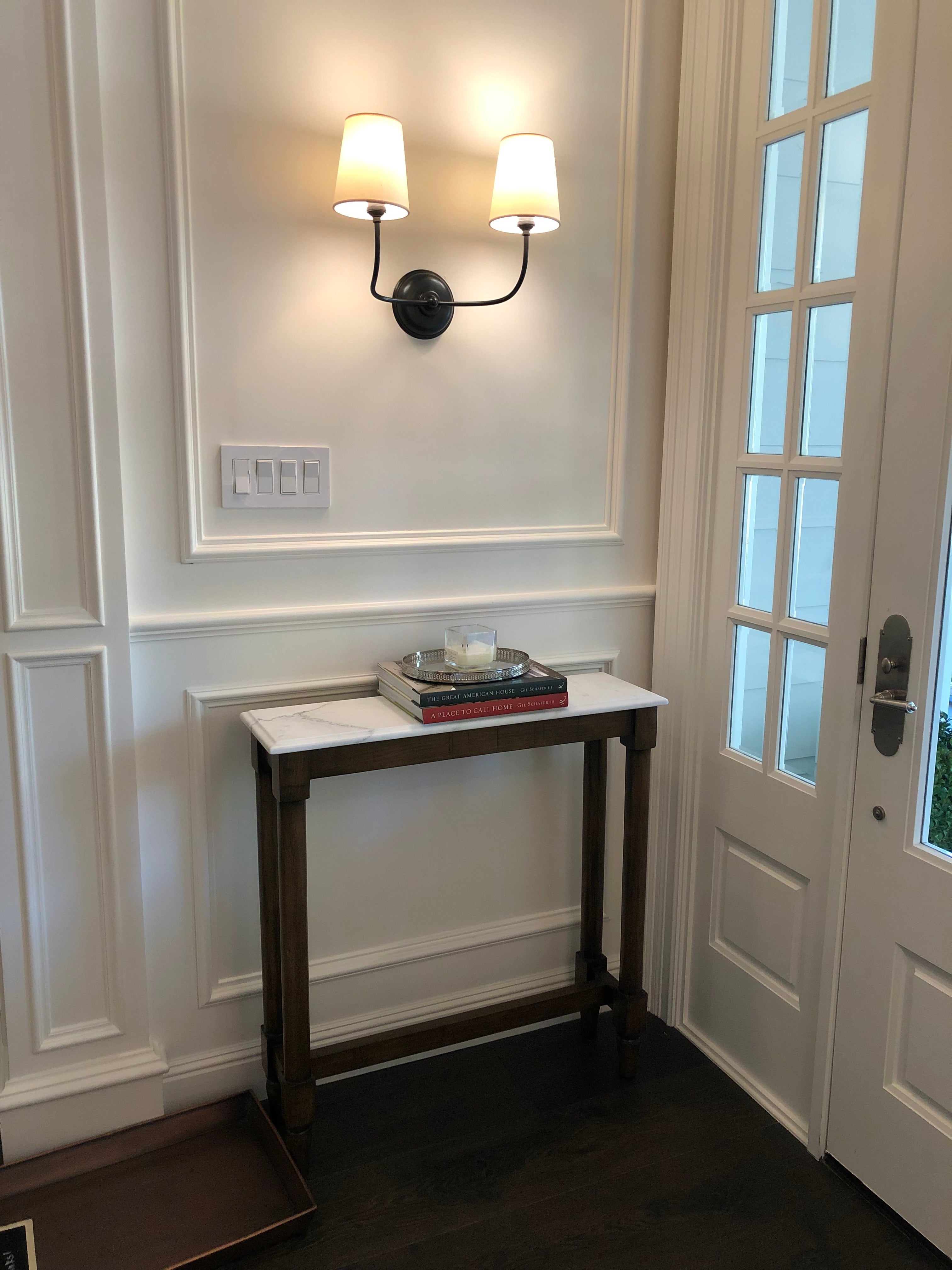 Foyer Tables Antique Mirror And Marble Top Table