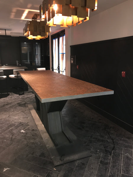 Cool Custom Metal And Reclaimed Wood Community Table For