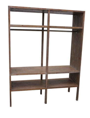 Yoga Studio Display Bookcase in Reclaimed Wood