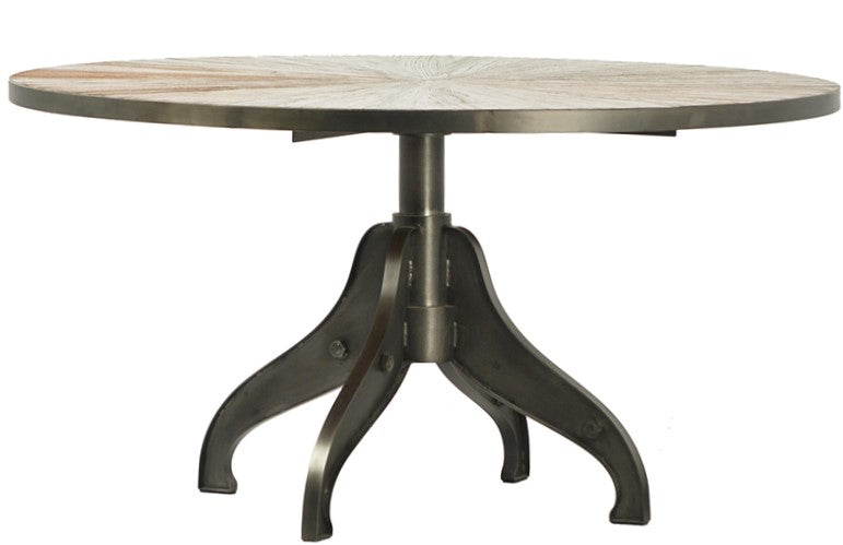 Rey, Metal & Parquet Table